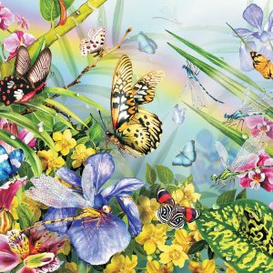 Frog & a Butterfly 500 PC Jigsaw Puzzle