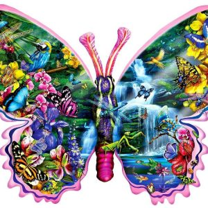 Butterfly Waterfall 1000 PC Shaped Jigsaw Puzzle