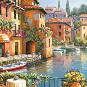 Cafe at the Canal 260 PC Jigsaw Puzzle