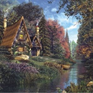 Fairytale Cottage 2000 PC Jigsaw Puzzle