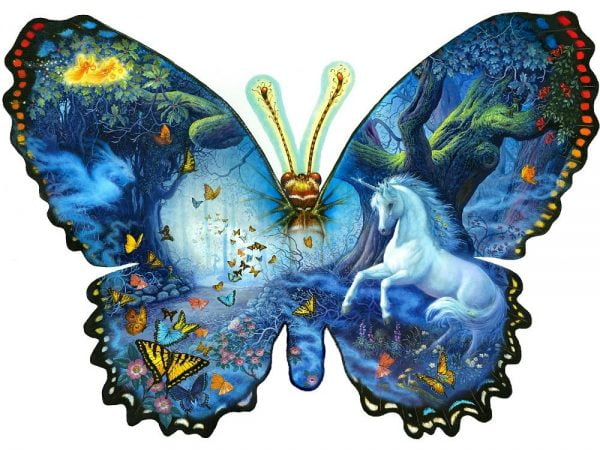 Fantasy Butterfly Shaped Jigsaw 1000 PC Puzzle