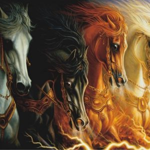 Four Horses of Apocalypse 1000 PC Jigsaw Puzzle
