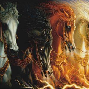 Four Horses of Apocalypse 1000 PC Jigsaw Puzzle