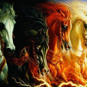 Four Horses of Apocalypse 2000 PC Jigsaw Puzzle