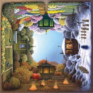 Four Seasons 1024 PC Square Jigsaw Puzzle