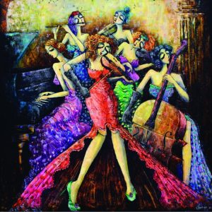 Ladies Orchestra 1024 PC Square Jigsaw Puzzle