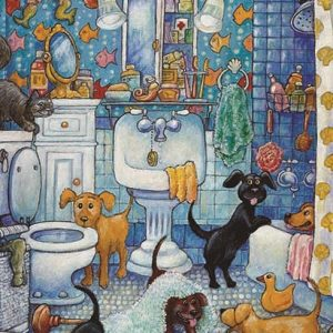 More Bathroom Pups 260 PC Jigsaw Puzzle