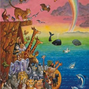Noah & the Rainbow 260 PC Jigsaw Puzzle