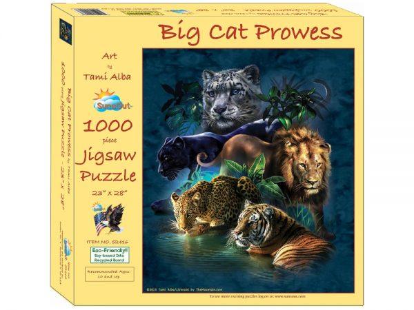 Big Cat Prowess 1000 Piece Jigsaw Puzzle - Sunsout