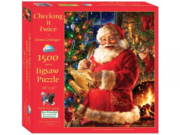 Checking it Twice 1500 Piece Jigsaw Puzzle