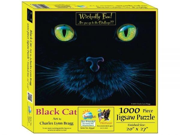 Black Cat 1000 Piece Jigsaw Puzzle - Sunsout