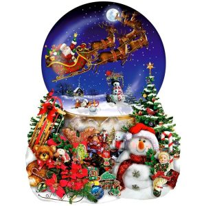Santa's Snowy Ride Shaped 1000 + PC Jigsaw Puzzle
