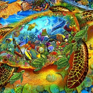 Sea Turtle World 1000 PC Jigsaw Puzzle