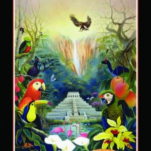 Tropical Jungle With Pyramid 1000 PC Jigsaw Puzzle