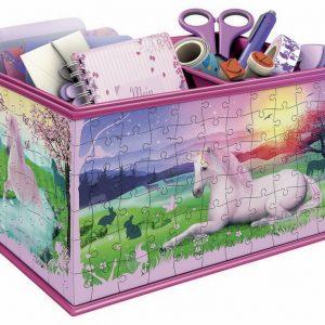 Unicorns Box Girly Girl 216 Pc 3D Puzzle Storage Box