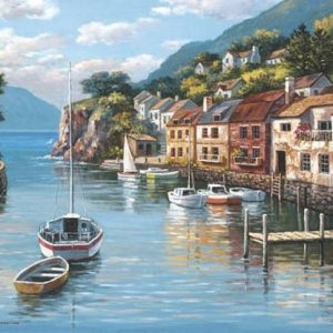 Village on the Water 500 PC Jigsaw Puzzle