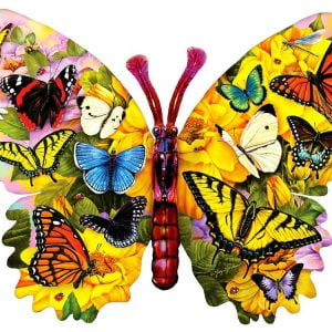 Wings of Colour Shaped 1000 PC Jigsaw Puzzle