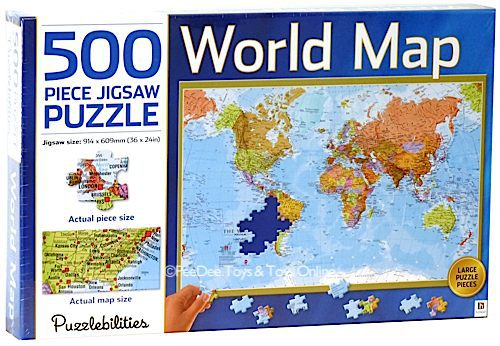 World Map 500 PC Jigsaw Puzzle