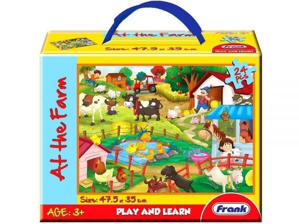 At the Farm Floor Jigsaw Puzzle 24 PC