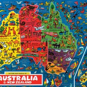 Australia Map 500 PC Jigsaw Puzzle