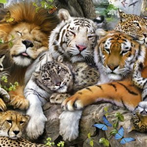 Big Cat Nap 200 PC Jigsaw Puzzle