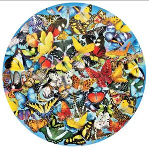 Butterflies in the Round 1000 PC Jigsaw Puzzle