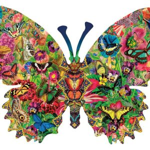 Butterfly Menagerie 1000 PC Shaped Jigsaw Puzzle