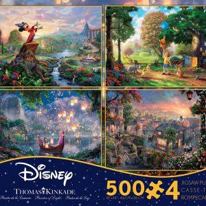 Disney Dreams 4 x 500 PC Jigsaw Puzzle Set