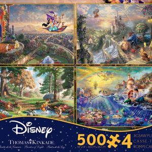 Disney Dreams 4 x 500 Pc Jigsaw Puzzle