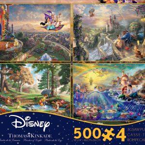 Disney Dreams 4 x 500 Pc Jigsaw Puzzle