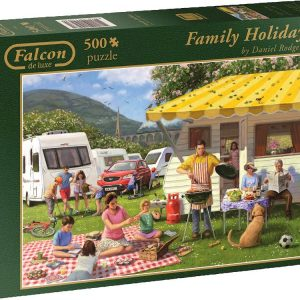 Family Holiday 500 PC Jigsaw Puzzle