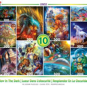 Glow in the Dark 10 in 1 Value Multi Pack Jigsaw Puzzle