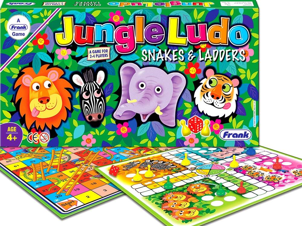Jungle Ludo Snakes Amp Ladders Board Game Puzzle Palace