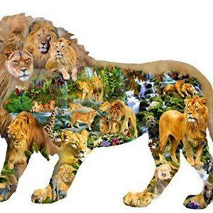 Lions Roar 1000 Piece Sunsout Shaped Puzzle