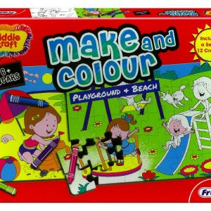 Make & Colour Playground & Beach Jigsaw Puzzle Set