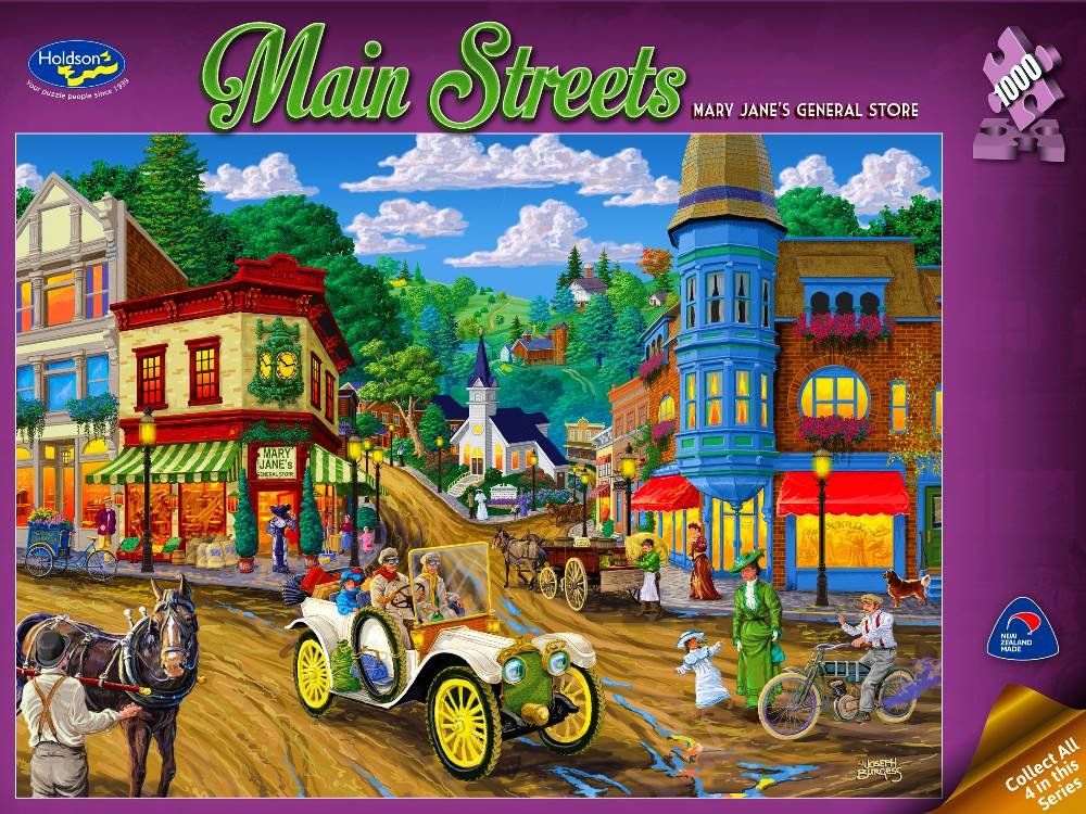 jigsaw puzzle mary jane 39 s general store main streets ii 1000pc. Black Bedroom Furniture Sets. Home Design Ideas