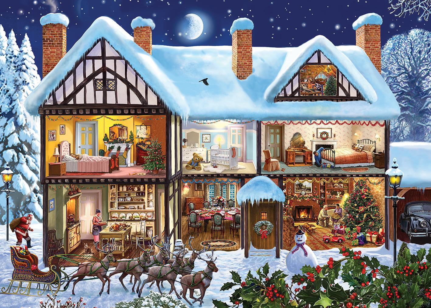 Midnight Delivery 1000 Piece Jigsaw Puzzle By Gibsons