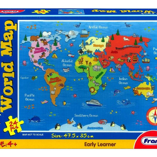 My First World Map 24 PC Jigsaw Puzzle