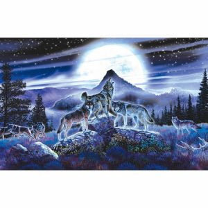 Night Wolves 1000 PC Jigsaw Puzzle