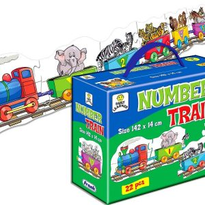 Number Train Floor Jigsaw Puzzle 22 PC