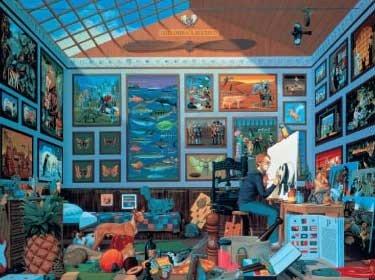 Painters Paradise 550 PC Jigsaw Puzzle