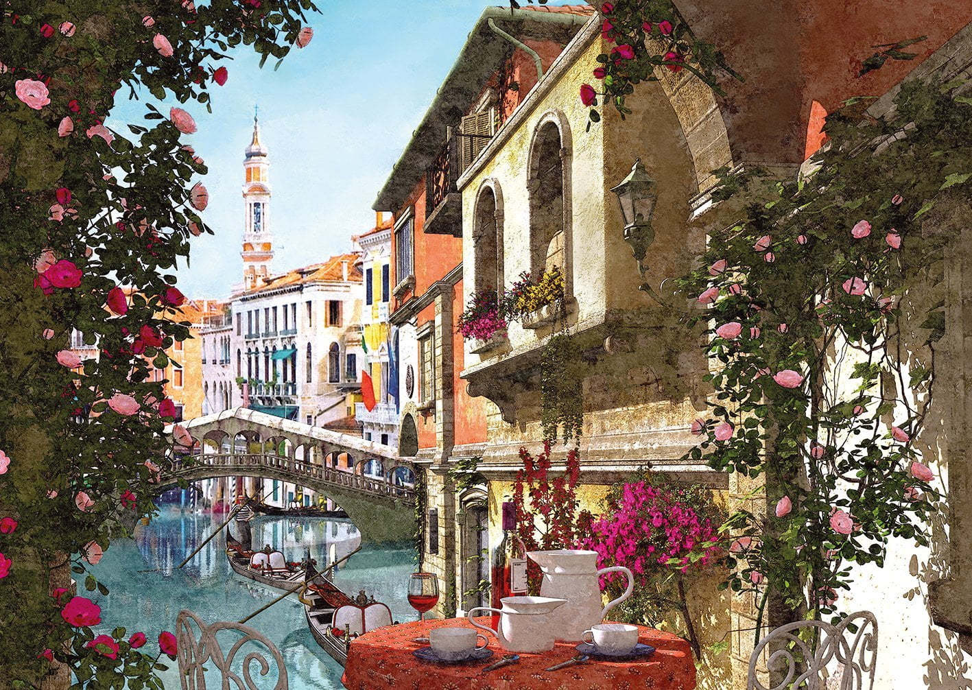 Mats For Cars >> Paris & Venice 4 x 500 Piece Jigsaw Puzzle by Gibsons