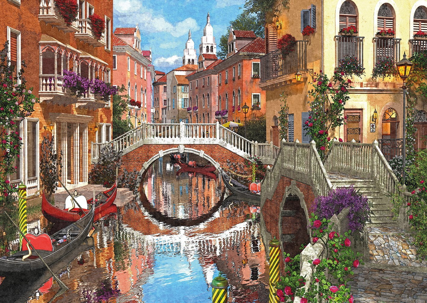 paris venice 4 x 500 piece jigsaw puzzle by gibsons. Black Bedroom Furniture Sets. Home Design Ideas