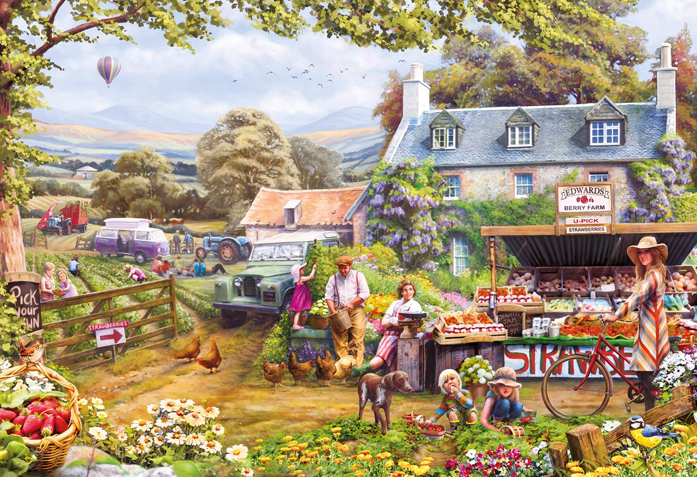 Thomas Kinkade Home Interiors Jigsaw Puzzle Pick Your Own 2000 Piece By Gibsons