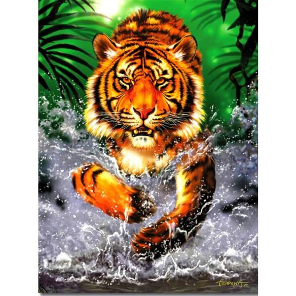 Running Tiger 300 PC Jigsaw Puzzle