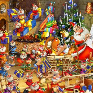 Ruyer, Christmas Chaos 1000 PC Jigsaw Puzzle