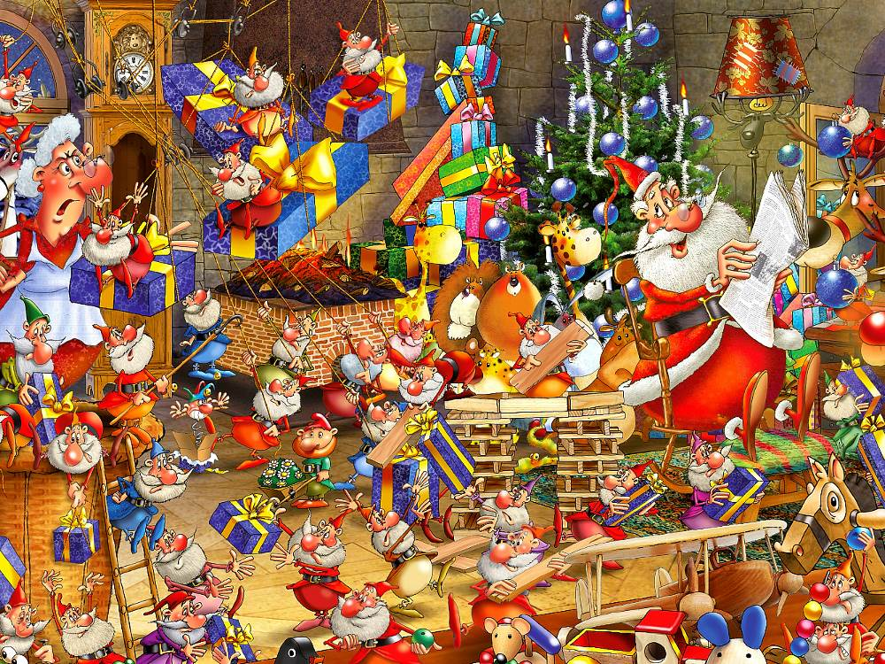 Jigsaw Puzzle Ruyer Christmas Chaos 1000 Pc By Piatnik