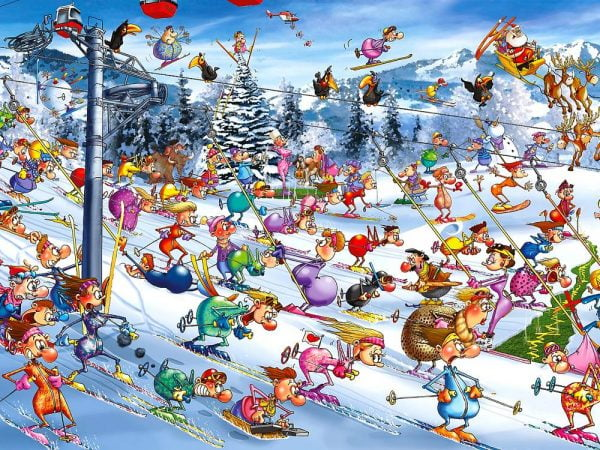 Ruyer Christmas Skiing 1000 PC Jigsaw Puzzle