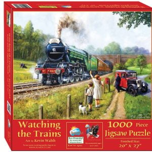 Watching the Trains 1000 Piece Jigsaw Puzzle - Sunsout