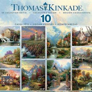 Thomas Kinkade 10-in-1 boxed jigsaws puzzle